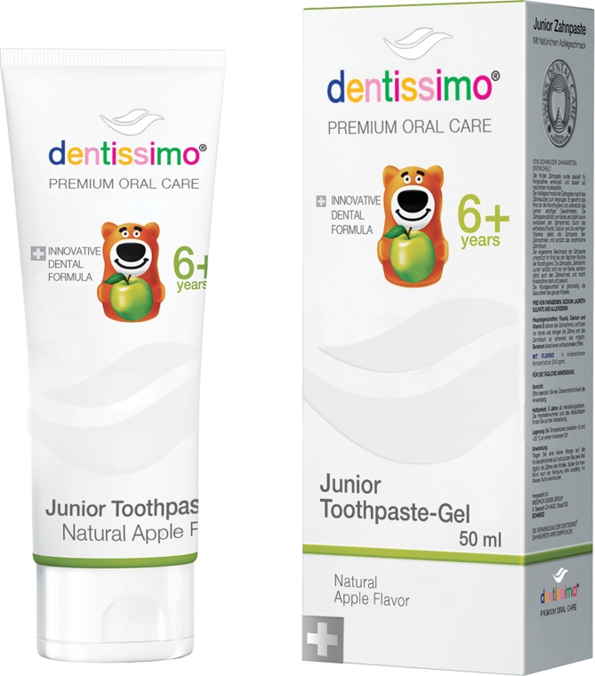 Зубная паста для детей - Dentissimo Junior Toothpaste Apple