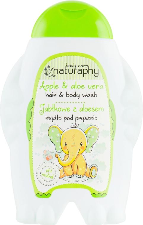 """Детский шампунь-гель для душа """"Яблоко"""" - Bluxcosmetics Naturaphy Hair & Body Wash"""
