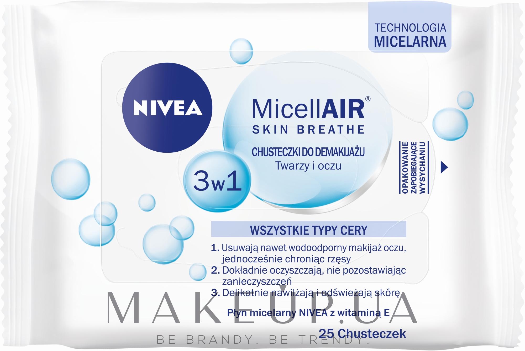 Салфетки для снятия макияжа - Nivea Aqua Effect — фото 25шт