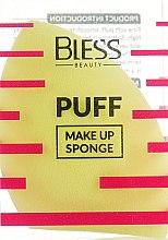 Духи, Парфюмерия, косметика Спонж скошенный, желтый - Bless Beauty PUFF Make Up Sponge