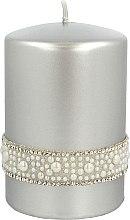 Духи, Парфюмерия, косметика Декоративная свеча серебряная, 7х10см - Artman Crystal Opal Pearl