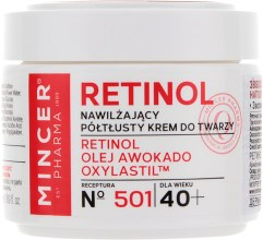 Духи, Парфюмерия, косметика Увлажняющий крем для лица 40+ - Mincer Pharma Retinol № 501