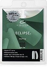Духи, Парфюмерия, косметика Типсы со специальным вырезом контактной зоны, 100шт - CND Natural Eclipse Tips