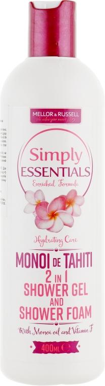 Гель для душа - Mellor & Russell Simply Essentials Hydrating Care Monoi de Tahiti