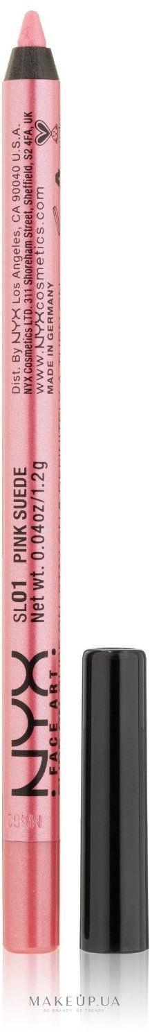 Водостойкий карандаш для глаз - NYX Professional Makeup Slide On Pencil — фото 01 - Pink suede