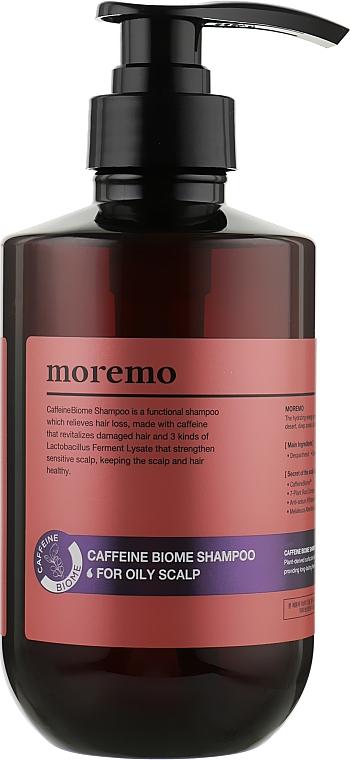 Кофеин-биом шампунь против выпадения волос для жирной кожи головы - Moremo Caffeine Biome Shampoo For Oily Scalp