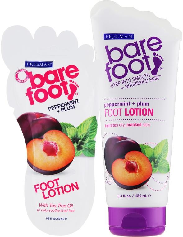 """Лосьон для ног """"Перечная мята и слива"""" - Freeman Bare Foot Foot Lotion"""