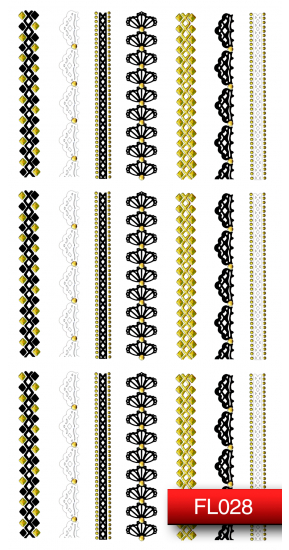 Наклейки для дизайна ногтей - Kodi Professional Nail Art Stickers FL028