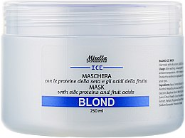 Парфумерія, косметика Маска для світлого, сивого і освітленого волосся - Mirella Blond Mask