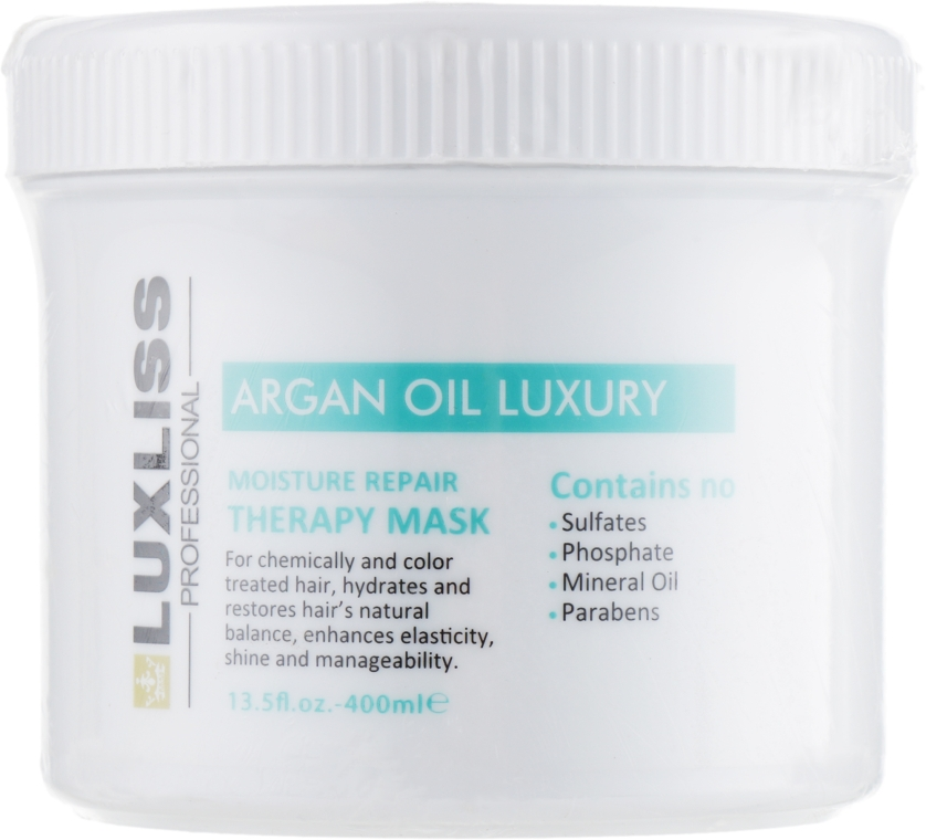 Восстанавливающая аргановая маска - Luxliss Moisture Therapy Repair Mask