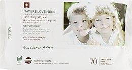 Духи, Парфюмерия, косметика Детские влажные салфетки - Nature Love Mere Fine (сменный блок)
