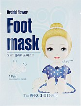 Тканевая маска для ступней - The Orchid Skin Orchid Flower Foot Mask Sheet — фото N1