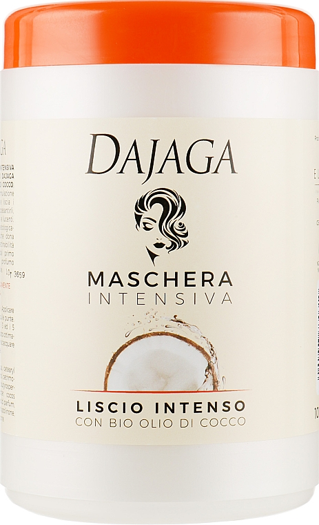 Маска для волос с кокосовым маслом - Dajaga Maschera Capelli Cocco Vaso