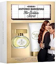 Духи, Парфюмерия, косметика Antonio Banderas Her Golden Secret - Набор (edt 80ml + b/lot 75ml)