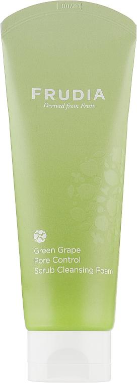 Себорегулирующая скраб-пенка для умывания с виноградом - Frudia Pore Control Green Grape Scrub Cleansing Foam