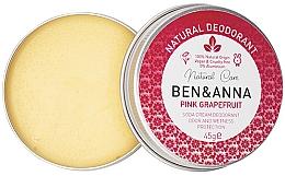 Духи, Парфюмерия, косметика Натуральный кремовый дезодорант - Ben & Anna Pink Grapefruit Soda Cream Deodorant