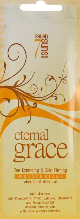 Крем для загара в солярии с сафлоровым маслом, подтягивающий эффект - 7suns Eternal Grace (пробник)