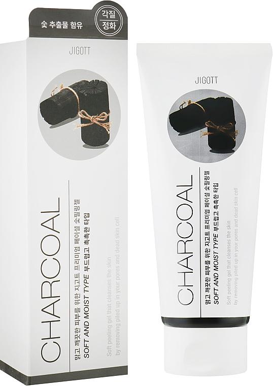 Пилинг-гель для лица с чёрным углем - Jigott Premium Facial Charcoal Peeling Gel