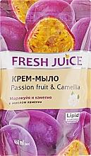 """Духи, Парфюмерия, косметика Крем-мыло с маслом камелии """"Маракуйя и камелия"""" - Fresh Juice Passionfruit&Camellia(сменный блок)"""
