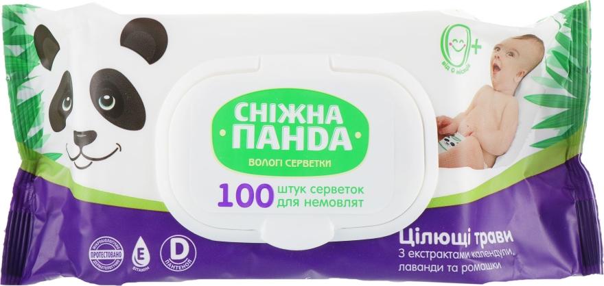 """Влажные салфетки для младенцев """"Целебные травы"""" - Снежная Панда"""