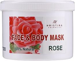 """Духи, Парфюмерия, косметика Маска для лица и тела """"Роза"""" - Hristina Cosmetics Rose Face & Body Mask"""