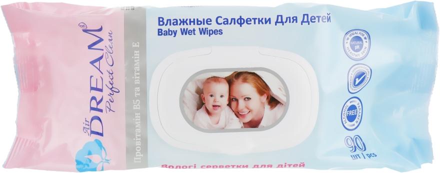 Влажные салфетки для детей, с клапаном 90 шт - Air Dream