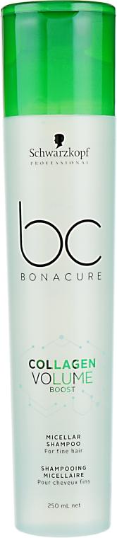 Коллагеновый шампунь для волос - Schwarzkopf Professional BC Bonacure Collagen Volume Boost Micellar Shampoo
