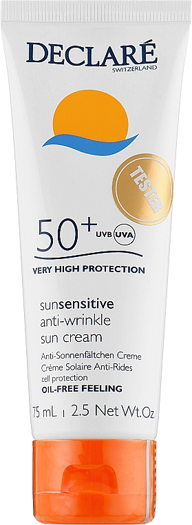 Солнцезащитный крем - Declare Anti-Wrinkle Sun Protection Cream SPF 50+ (тестер)