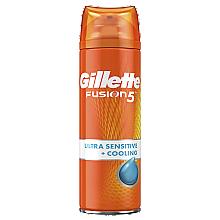 Парфумерія, косметика Гель для гоління для чутливої шкіри, з ефектом охолодження - Gillette Fusion 5 Ultra Sensitive + Cooling Shave Gel