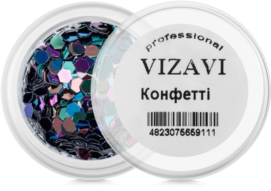 Конфетти для дизайна ногтей - Vizavi Professional