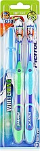 Духи, Парфюмерия, косметика Зубная щетка мягкая, салатовая + голубая - Pierrot Goldx2 Toothbrush