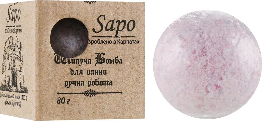 """Шипучая бомба для ванны """"Ежевика"""" - Sapo"""