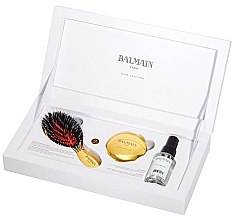 Духи, Парфюмерия, косметика Набор - Balmain Paris Golden Spa (h/parfume/50ml + mirrow + h/brush)
