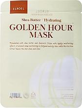 Духи, Парфюмерия, косметика Тканевая маска для лица увлажняющая - Elroel Golden Hour Mask Shea Butter Hydrating