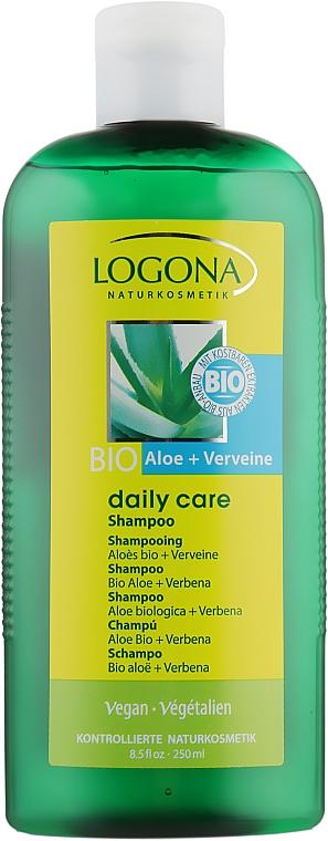 Шампунь для нормальных волос с Алоэ и Вербеной - Logona Daily Care Shampoo Organic Aloe + Verbena