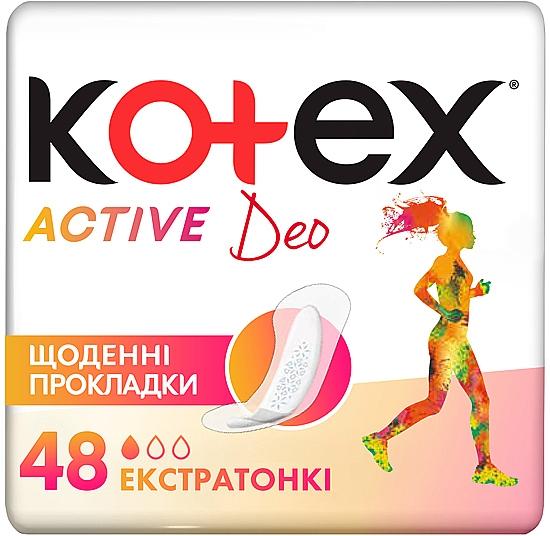 Супертонкие ежедневные прокладки, 48шт - Kotex Active Deo