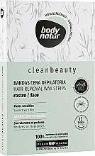 Духи, Парфюмерия, косметика Восковые полоски для депиляции лица - Body Natur Wax Strips for Face Sensitive Skin Bamboo And Spirulina