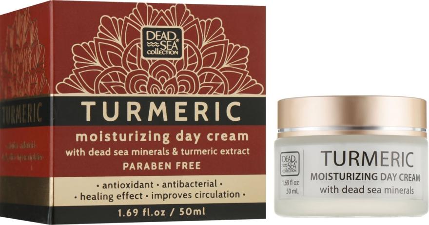 Увлажняющий дневной крем с экстрактом куркумы и минералами Мертвого моря - Dead Sea Collection Turmeric Day Cream