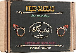 "Духи, Парфюмерия, косметика Крем-мыло ""Кедр-Сандал"" для мужчин - Амбра"