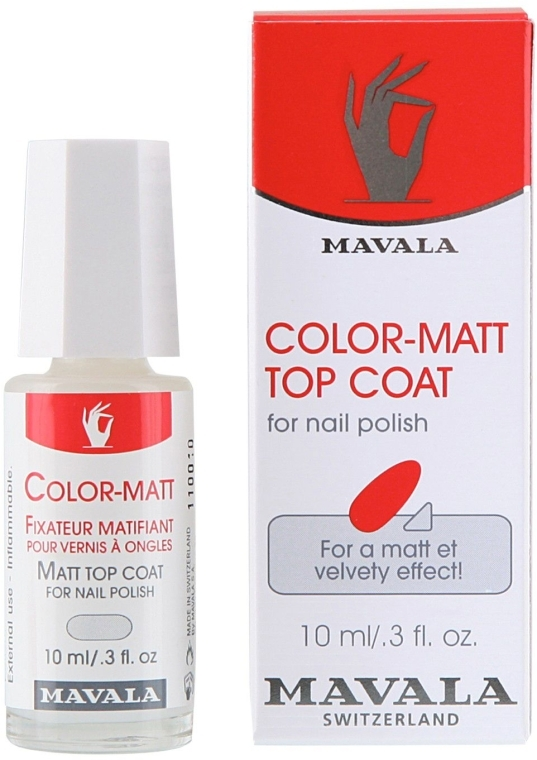 Матирующее покрытие - Mavala Color-Matt Top Coat