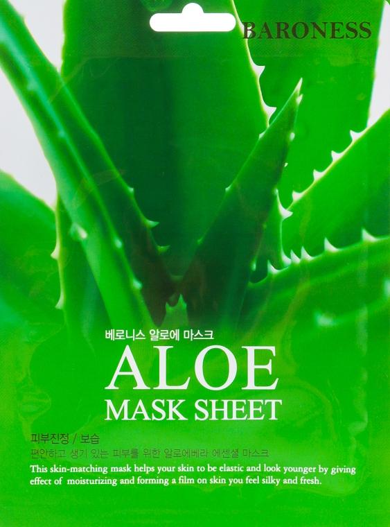 Тканевая маска с экстрактом алоэ - Beauadd Baroness Mask Sheet Aloe