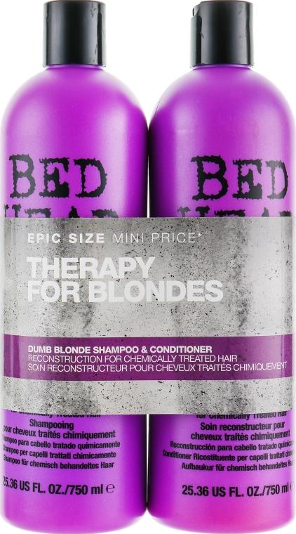 Набор - Tigi Bed Head Dumb Blonde (shm/750ml + cond/750ml)