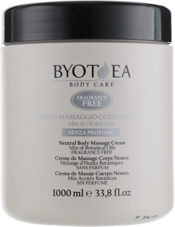 Крем для массажа нейтральный без запаха - Byothea Massage Cream Neutral Odorless