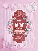 Духи, Парфюмерия, косметика Гидрогелевая маска для лица с рубином - Petitfee&Koelf Ruby & Bulgarian Rose Hydro Gel Mask