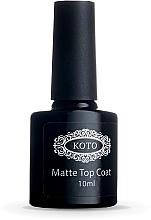 Духи, Парфюмерия, косметика Матовое финишное покрытие - Koto Matte Top Coat
