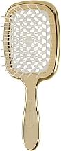 Духи, Парфюмерия, косметика Расческа для волос лимитированная линейка, золото с белым - Janeke Superbrush Limited Gold
