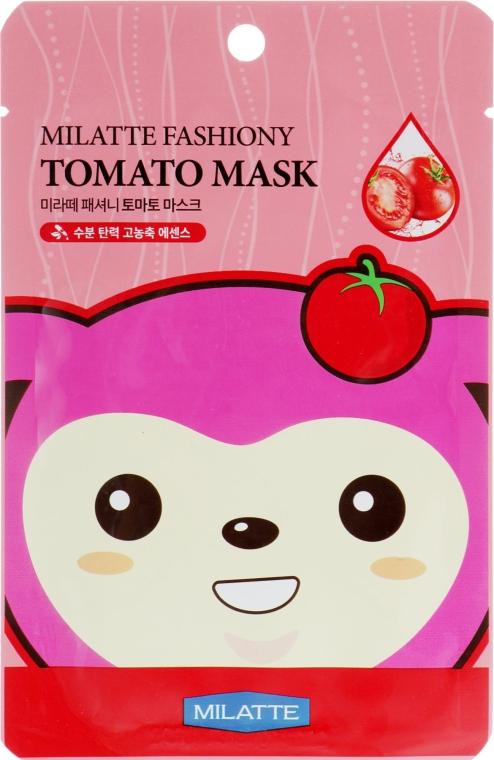 Тканевая маска для лица с экстрактом томата - Milatte Fashiony Mask Sheet Tomato