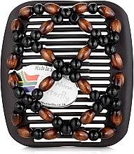 Духи, Парфюмерия, косметика Заколка для волос Ndebele 004, на коричневом гребне - African Butterfly Hair Clip
