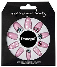 Духи, Парфюмерия, косметика Набор искусственных ногтей, розовый - Donegal Express Your Beauty