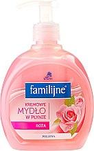 Духи, Парфюмерия, косметика Жидкое мыло - Pollena Savona Familijny Rose Creamy Liquid Soap